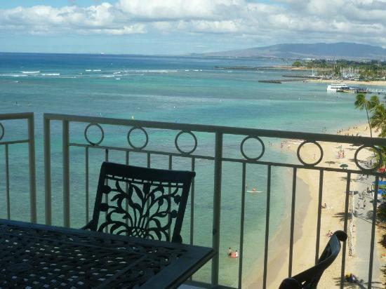 Waikiki Shore: View off the west lanai.