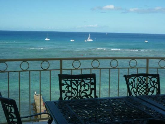 Waikiki Shore: View from beachfront lanai.