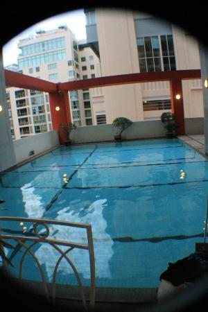 Bandara Suites Silom: small pool but good enough for a relaxing swim-very cold water though