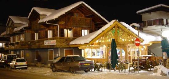 Chalet Arthur l'hiver, la nuit