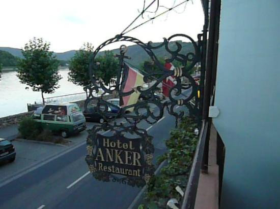 Anker Hotel-Restaurant : View towards Boppard from the balcony of room no. 2