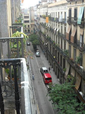 Hostal La Terrassa: Panorama dal balcone della camera