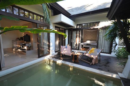 Melati Beach Resort Spa Foto Esterno Pool Villa
