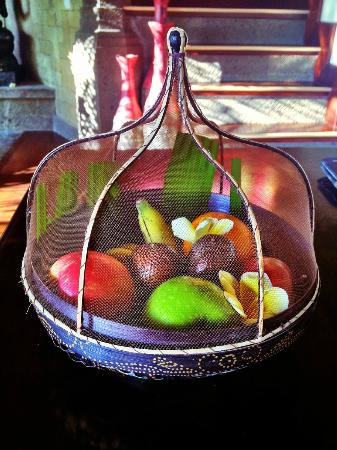 Bidadari Private Villas & Retreat : Welcome fruits