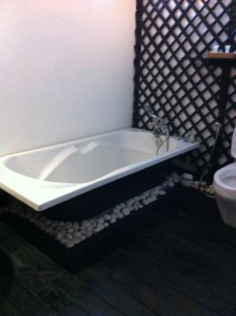 Petit Villa Boutique & Spa: bath tub without penals.