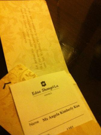 Edsa Shangri-La: key card