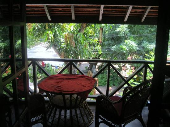Villa Ban Lakkham: Looking from the room to one of the front balcony