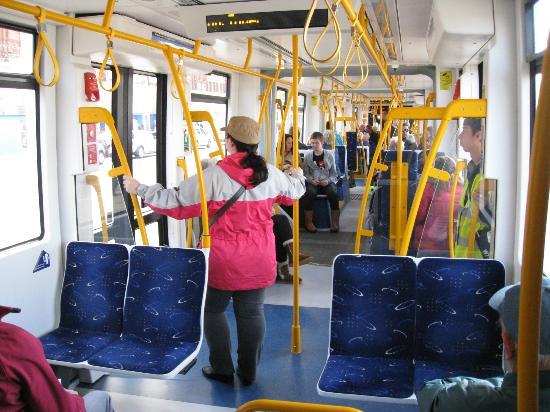 Blackpool Tramway: Aboard the tram.