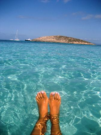 Strand Playa de ses Illetes: L'acqua cristallina di Illetes