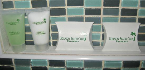 Boracay Beach Club: free toiletries. no toothpaste & toothbrush though