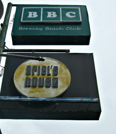 Boracay Beach Club: hotel signage