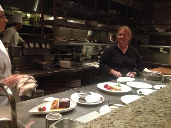 Restaurant Medure: chef's table view