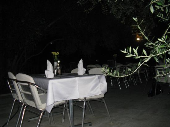 Hotel Oliva: дворик освещается, играет тихая музыка