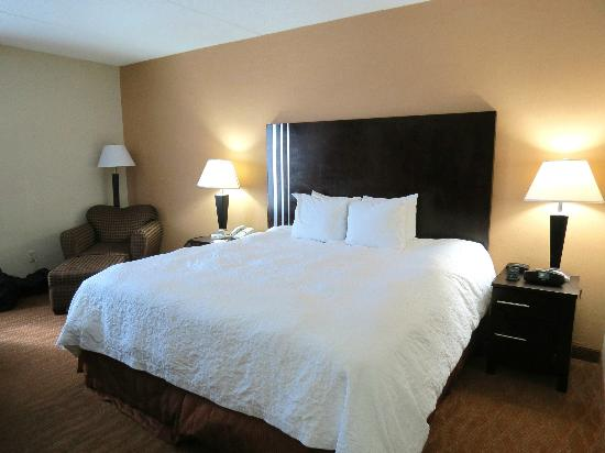 Hampton Inn Niagara Falls: Clean, comfortable bed