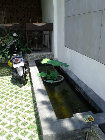 Jocs Boutique Hotel & Spa: front tiny pond without any fish