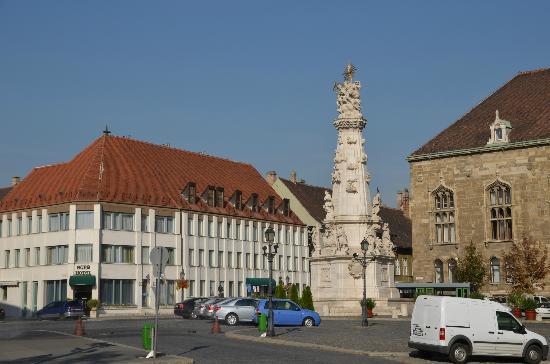 Burg Hotel: Колонна Святой Троицы у отеля