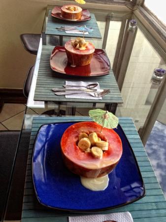 Paisasky: Colazione: papaya con banane