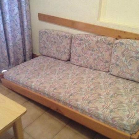 Evamar Apartments: this was one of our sofa beds on arrival, took the photo to ensure we got our deposit back