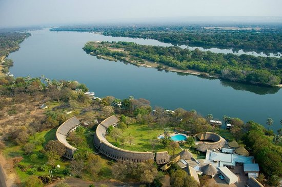 Arial View of A'Zambezi River Lodge