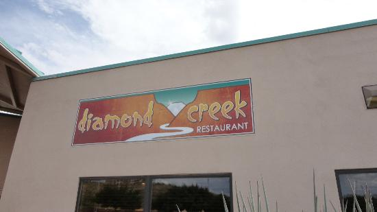 Diamond Creek Restaurant : Sign Outside