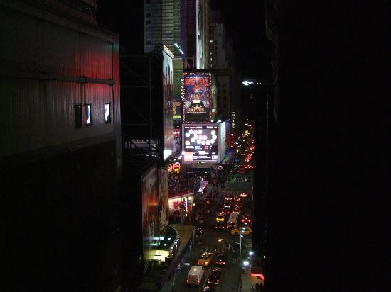Night Times Square: View from our room