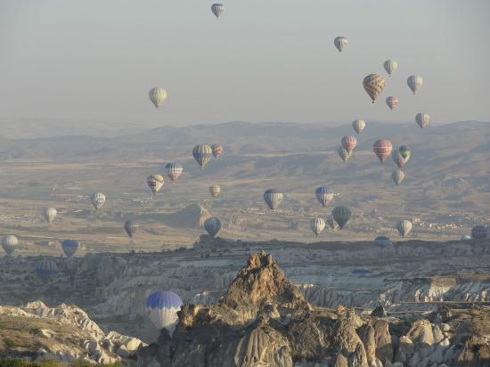 Ramada Cappadocia: Vue de l'hôtel à 8h du matin