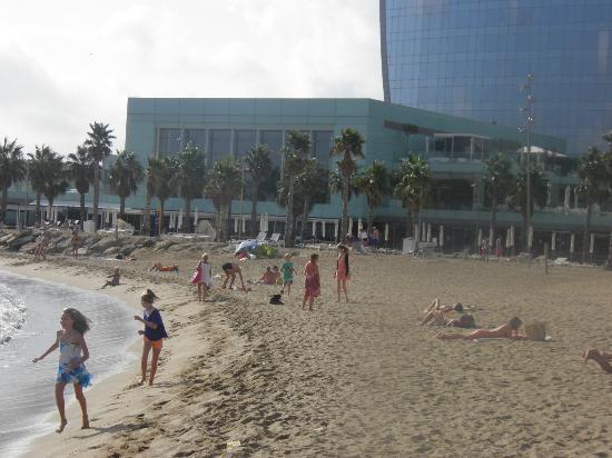 W Barcelona Hotel Outdoor Private Beach Area