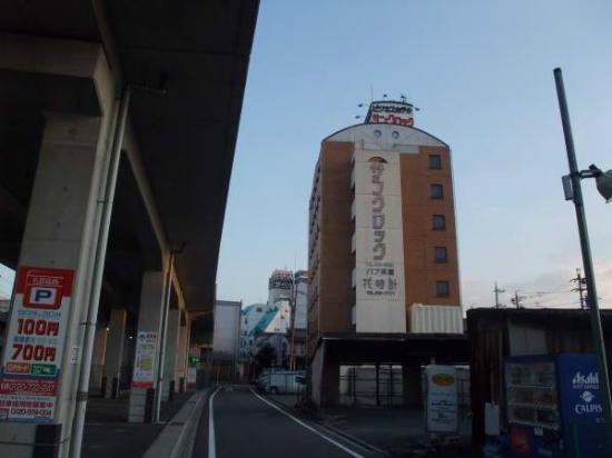 Business Hotel Sun Clock: 写真奥が駅の入り口