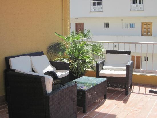 Hotel Diamante: Sitzecke auf der Dachterrasse