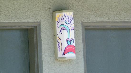 Caliente Tropics Resort: each light is uniquely painted