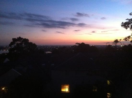 taken in the evening from balcony of back facing room.