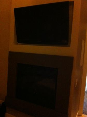 The Parkside Hotel & Spa : fireplace (electric) and big tv screen