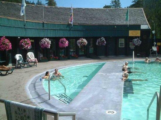 Nakusp Hot Springs: hot spring pools 2