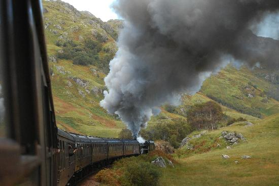 Jacobite Steam Train : On the return from Mallaig to Fort William