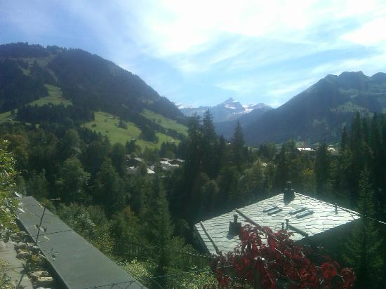 Gstaad Palace Hotel: View from back terrace