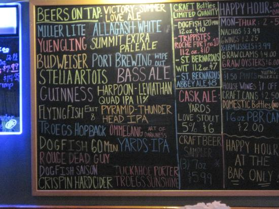 Crest Tavern: Beers on Tap listing