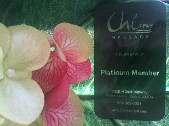 Chi Spa Platinum Member Card