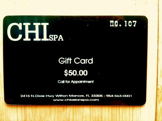 Chi Spa $50 Gift Card