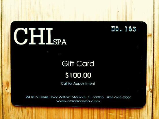Chi Spa $100 Gift Card