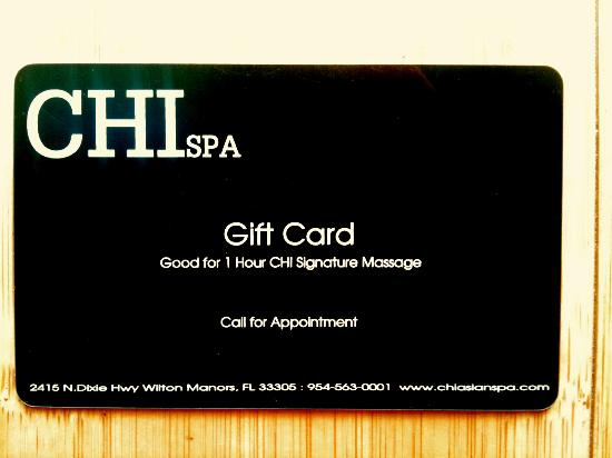 Chi Spa Massage Gift Card