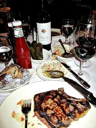 Moishes Steakhouse : $25 late night special ribsteak with complimentary pickles and coleslaw!