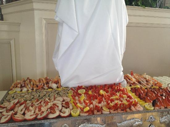 The Breakers: lobster, crab claws and shrimp Sunday Buffet