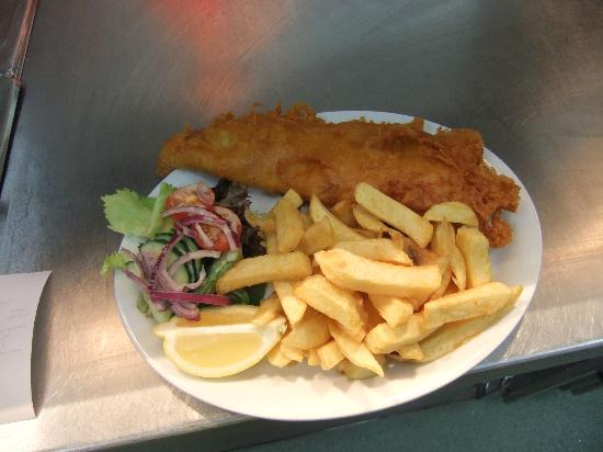 J & C's Chippy Restaurant: Haddock and Chips