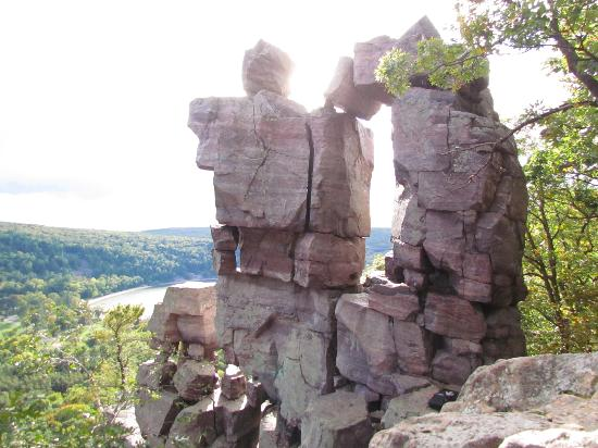 Devil's Lake State Park: One of the great rock formations on our hike