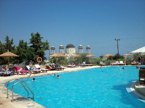 Lindos Gardens Resort Complex: The main pool area.