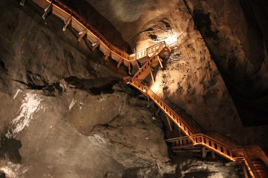 Winding Steps Inside Of The Mine Picture Of Wieliczka