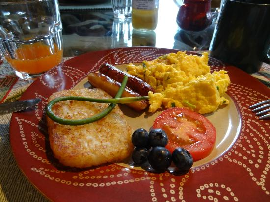 The Farmhouse Bed and Breakfast: Une partie de notre petit déjeuner