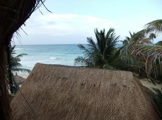 Hotel Cabanas Luna Maya: la vista del habitacion