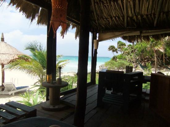 Hotel Cabanas Luna Maya: que vista!