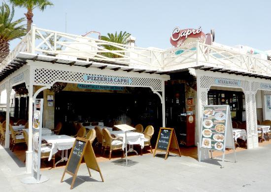 Pizzeria Capri: Terraza